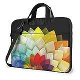 Laptop Notebook PC Bolsa de Hombro-Flor Colorida PC portátil Mochila de Hombro Bolsa Maletín Messenger con Correa 15.6 ″