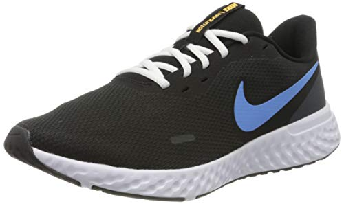 Nike Men's Revolution 5 Black/University Blue-Laser Orange-White Running Shoes - 7 UK (41 EU) (8 US) (BQ3204-004)