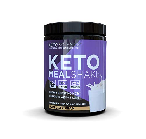 Keto Science Ketogenic Meal Shake Vanilla Dietary Supplement, Rich in MCTs and Protein, Paleo Friendly, Weight Loss, 14 servings, 20.7 oz Packaging May Vary 1