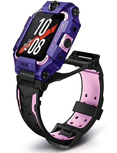 imoo Watch Phone Z6 Teléfono Reloj Inteligente para Niños, Teléfono de Reloj para Niños con Video, Reloj GPS para Niños con Localización Tiempo Real y Resistente al Agua para Nadar IPX8 (Púrpura)