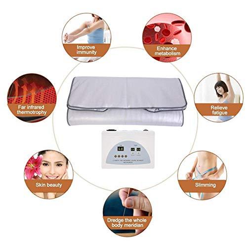 TOUKUN Digital Far-Infrared (Fir) Heat Sauna Blanket 2 Zone Controller To Reduce Weight Thin Body Home Beauty 5