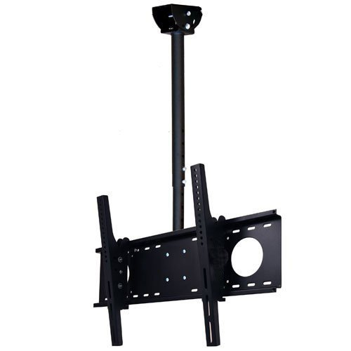 VideoSecu LCD Plasma Flat Panel TV Ceiling Mount Bracket for Most 37-60' Plasma TV Flat Panel Displays, Some up to 75' LED TV with VESA 200x200 400x400 600x400 680x460mm MPC53B 1S5