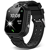 Kids Smart Watch for Boys Girls - Kids Smartwatch Phone with Calls 7 Games Music Player Camera Alarm Clock Calculator SOS Calendar Touch Screen Children's Smart Watch for Kids Birthday Gifts(Black)