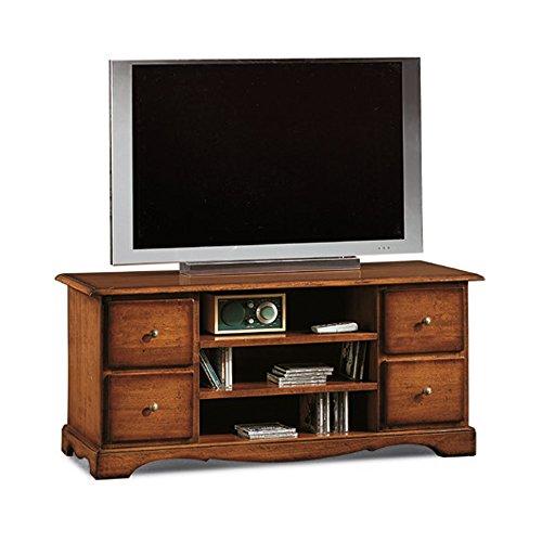 ZeroDueZero - Mobile Porta Tv, Stile Classico, In Legno Massello E Mdf Con Rifinitura In Noce Lucido...