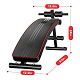 Adjustable Weight Bench Utility Gym Bench for Full Body Workout, Multi-Purpose Foldable Flat Exercise Bench