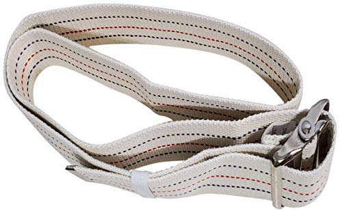 Transfer Gait Belt with Metal Buckle 1 Loop Beige 60 inch. Recommended Nurse CNA Physical Therapy