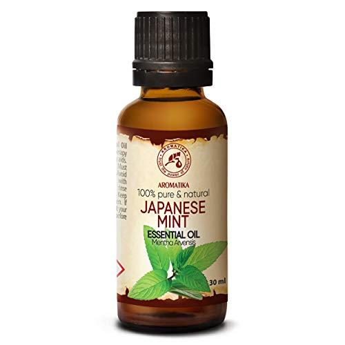 Aceite de Menta 30ml - Mentha Arvensis - Aceite Esencial de Menta Japonesa para Aromaterapia - Difusor de Aroma - Lámpara de Fragancia - Baño - Mejor para Belleza - 100% Puro y Natural