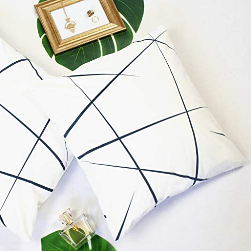 Offtopic |Set da 2 federe Cuscini Divano 45x45 cm in Velluto Morbido | Cuscini Decorativi Eleganti con Design Italiano e Moderno | Cuscini Bianco e Nero Stile Minimal | Yang Bianco