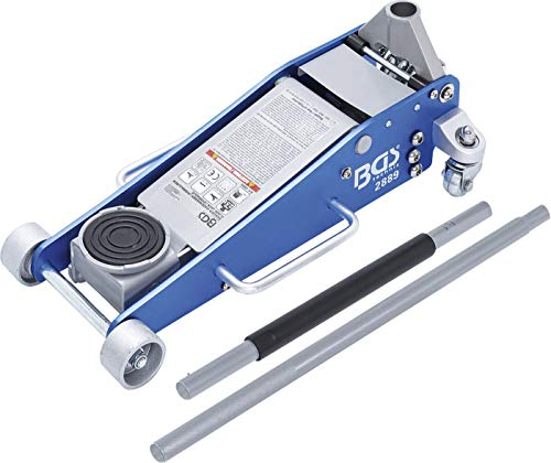 BGS 2889 | Rangier-Wagenheber | 2,5 t | hydraulisch | Hubhöhe 100 - 460 mm | Aluminium-Stahl-Konstruktion | Hydraulik mit Doppelhubkolben