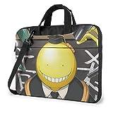 XCNGG Assassination Classroom Koro-Sensei Anime Laptop Hombro Messenger Bag Tablet Computadora Mochila de Almacenamiento Bolso de Mano de 15,6 Pulgadas