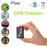 Winnes Mini GPS Tracker, Mini GPS magnétique Suivi Anti-vol en Temps réel GPS Locator pour Sac à Main Bourse Sacs cartables Documents Importants Perdu Finder Voiture Tracker TK902 Noir