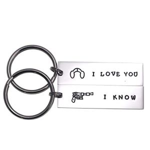 LParkin Couple Gifts for Him and Her Wedding Gifts Star Wars Jewelry I Love You I Know Keychain Girlfriend Boyfriend Husband Wife