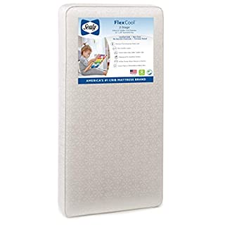 204 PREMIUM COILS -- High coil count orthopedic crib mattress with 204 durability-tested coils for premium firmness. Anti-sag steel vertical bars evenly distribute baby's weight to keep infants supported. AIRY 2-STAGE DESIGN -- 2-sided dual firmness ...