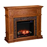 SEI Furniture Belleview Fireplace, New Sienna