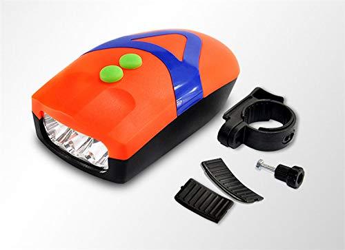 FASTPED® 3 LED Light Orange Bicycle Bike Accessories Adjustable Safety Warning Loud Horn Black