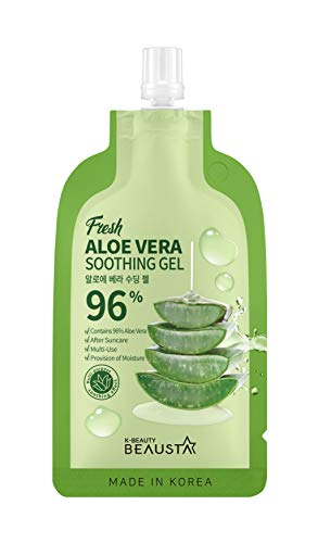 [BEAUSTA - MADE IN KOREA] Pouch Skincare Set of 10's FREE 1 (3 choices to choose from) (COMBO + FREE ALOE VERA GEL)' for ASIN 'B084BVYBN5' in the Amazon catalog