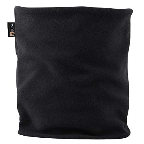 LUPA Canadian Handmade Unisex Double-Layer Micro Fleece Neck Warmer (Black)