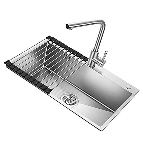 Single Bowl Sink, Stainless Steel Manual Kitchen Tank...