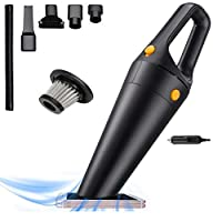 Lightweight handheld car vacuum is well-suited to automotive cleaning. Its flip-up brush makes it easy to clean upholstery, making it a handy option for cleaning a vehicle Car dustbuster have a powerful suction, 120W car cleaner with multi-Layer HEPA...