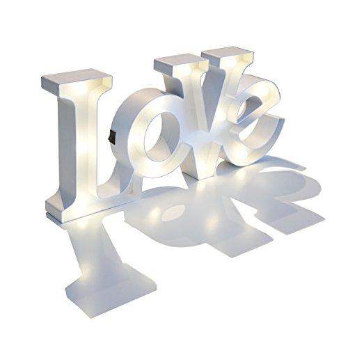 Letras LOVE luminosas - 49 CM - #YoCelebroEnCasa