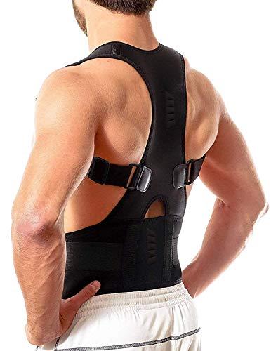Bretella brace postura correttiva Torna banda magnetica per gli uomini taglia M