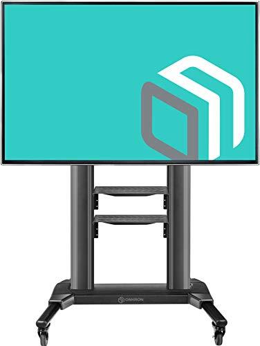 ONKRON Carrello TV Supporto TV da pavimento per shermi da 42' a 80' LCD QLED e TV curvi Mobile TV...