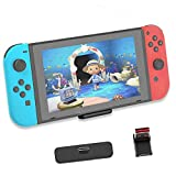 Bluetooth Adapter for Nintendo Switch & Lite,Bluetooth 5.0 USB-C Wireless Audio Transmitter Connector with All Bluetooth Speakers Headphones on Airpods,PS4/PC/Laptops, APTX Low Latency (Black)