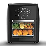 Caynel 12.5 Quart Digital Air Fryer with Rotisserie, Dehydrator, Convection Oven, 8 Presets to Air Fry, Roast, Dehydrate, Bake & More, Glass Viewing Window, Accessory Kit and Recipe Book Included, Large Capacity, 1700W