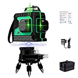 Professionnel Niveau Laser Vert Autonivelant - 3x360° 3D Laser Croix 50m,...