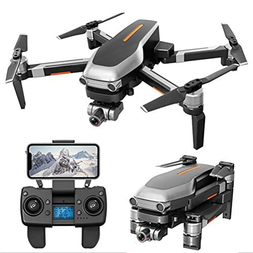 FXQIN Drone Professionale con Stabilizzatore 2 Assi, Mini Drone con Motore Brushless, 4K GPS Drone con Telecamera HD, Quadricottero Pieghevole, Autonomia 50 Minuti, 50x Zoom 2 batterie