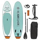 EASYmaxx - MAXXMEE Stand-Up Paddle-Board 'I Need Vitamin Sea' | Sac de Transport, kit de réparation et Pompe à air Inclus, avec poignée de Transport Pratique | Qualité supérieure