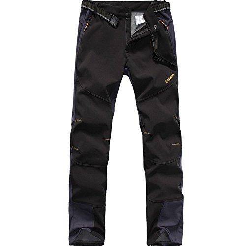 FLYGAGA Homme Pantalon Softshell Doublé Polaire Coupe-Vent Imperméable...