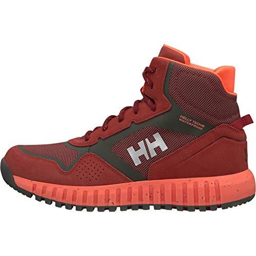 Helly Hansen W MONASHEE ULLR HT, Botas de Senderismo para Mujer, Rojo (Red Brick/Beluga/Bright 199), 38 EU