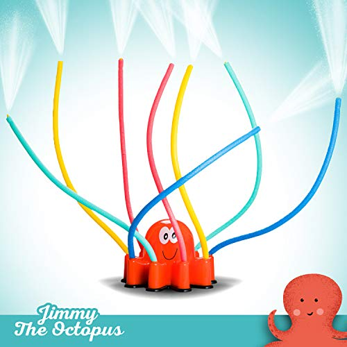 Atlasonix-Outdoor-Water-Sprinkler-Spray-for-Kids-Cute-Backyard-Sprinkler-Toy-with-Wiggle-Tube-Arms-Active-Summer-Play-for-Children-and-Pets-Attaches-to-Garden-Hose-Age-3