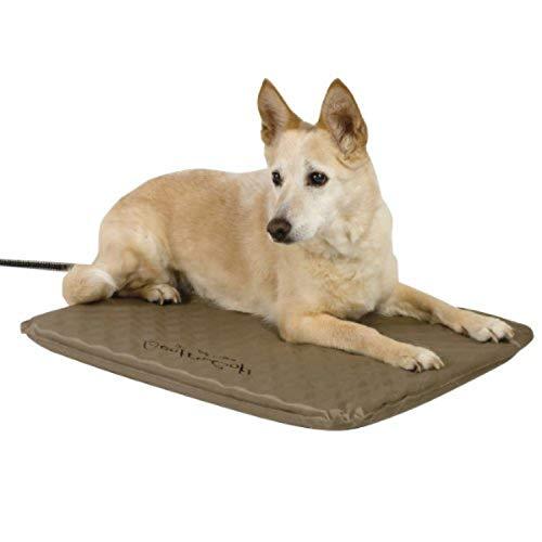 K&H Pet Products Outdoor Heated Pet Bed Tan Medium...