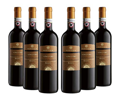 Bottega Acino Chianti Classico Docg Riserva - 6 Bottiglie da 750 ml