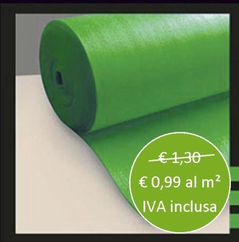 Sottopavimento per Pavimento Laminato Verde Isolante 2 Mm confezione da 50 mq