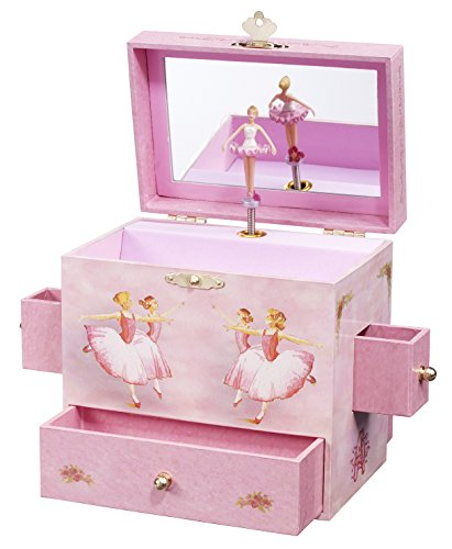 Enchantmints Ballerina Musical Jewelry Box, 'Swan Lake' Ballerinas, 4 Drawers