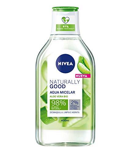 Nivea Naturally Good Agua Micelar con Aloe Vera Bio, 400ml