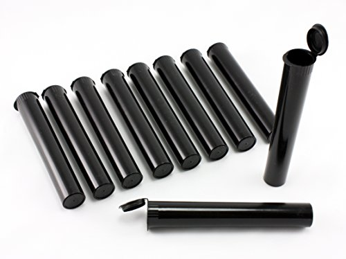 Skyway Viper Doob Tube Vial Waterproof Airtight Smell Proof Pre Roll Tubes Odor Sealing Container - Set of 10 (Black)