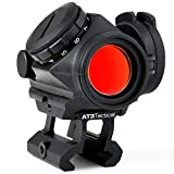 AT3 Tactical RD-50 PRO Red Dot Sight with .83' Riser - for Absolute Cowitness with Iron Sights - 2 MOA Compact Red Dot Scope