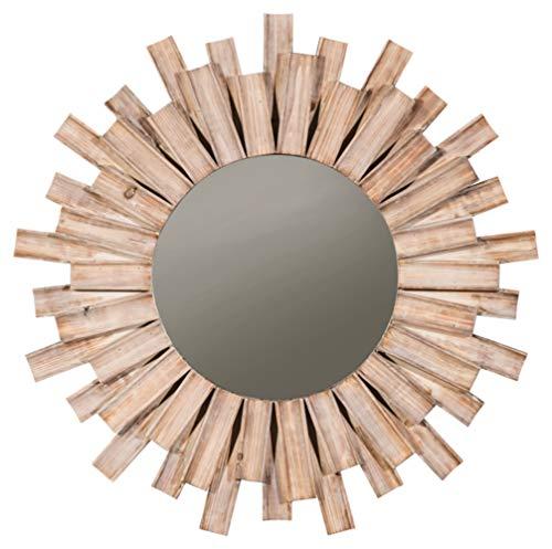 Signature Design by Ashley - Donata Wall Mirror - Casual - Natural Wood Finish