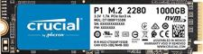 Crucial P1 1TB 3D NAND NVMe PCIe Internal SSD, up to 2000MB/s - CT1000P1SSD8