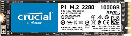 Crucial P1 CT1000P1SSD8 SSD Interne 1To (3D NAND, NVMe, PCIe, M.2)