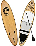 TUSY Inflatable Stand Up Paddle Board 10.6' with Premium SUP Accessories, Camera Mount, 3 Removable Fins, Wide Stance, Surf Control,Non-Slip Deck, Youth & Adult