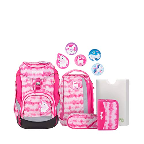 Ergobag Pack ZauBärwatte, ergonomischer Schulrucksack, Set 6-teilig, 20 Liter, 1.100 g, Pink