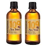 Naissance Aceite Esencial de Árbol de Té n. º 109 – 200ml (2x100ml) - 100% Puro, vegano y no...