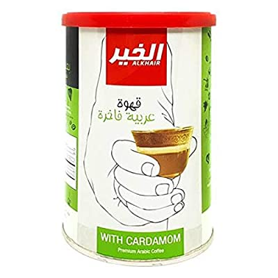 Al-Khair premium Arabic coffee with cardamom contains high amounts of antioxidants that work to fight cancer cells in the body, Fine Arabic coffee is a symbol of generosity and hospitality among the Arabs. Al-Khair premium Arabic coffee with cardamom...