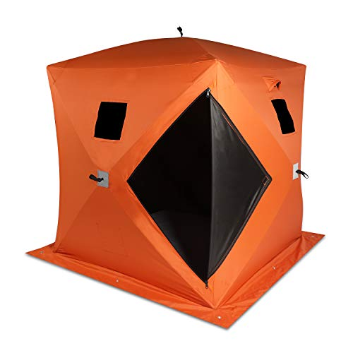 VikiullfIce Shelter Tent - 2 Person WaterproofPop upIce Fishing Tent Portable Ice House with...
