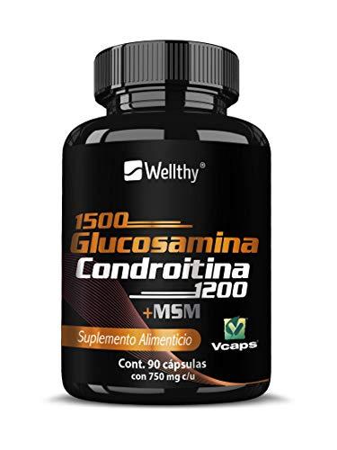 Glucosamina + condroitina + MSN 90 Caps, elaborada con Vcaps (cápsulas de origen vegetal)
